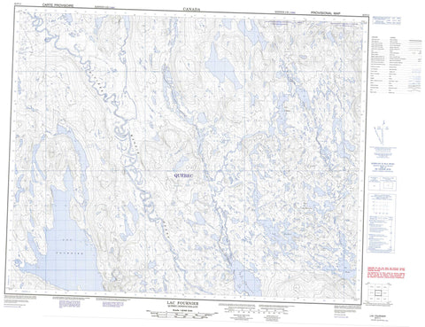 022P11 Lac Fournier Canadian topographic map, 1:50,000 scale