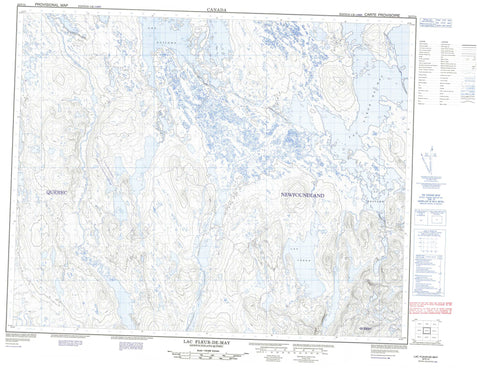 022P14 Lac Fleur De May Canadian topographic map, 1:50,000 scale