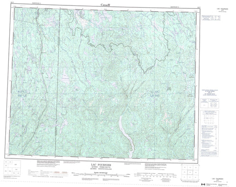 022P Lac Fournier Canadian topographic map, 1:250,000 scale