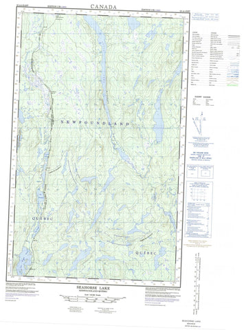 023A04E Seahorse Lake Canadian topographic map, 1:50,000 scale