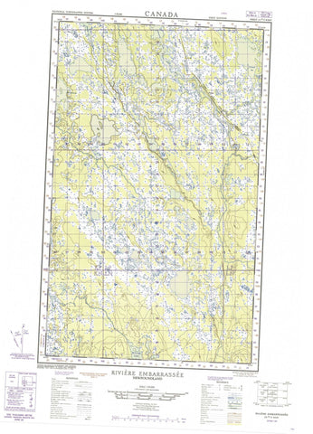 023A05W Riviere Embarrassee Canadian topographic map, 1:50,000 scale