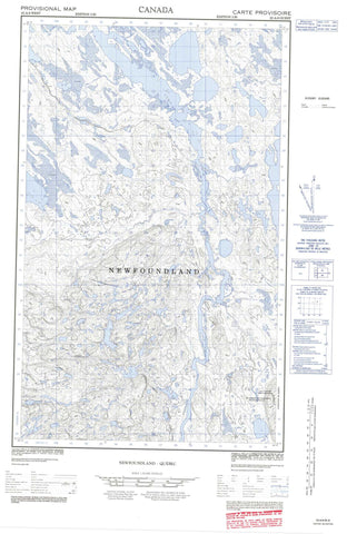023A08W No Title Canadian topographic map, 1:50,000 scale
