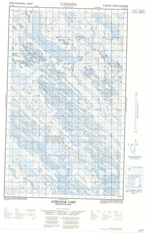 023A10W Atikonak Lake Canadian topographic map, 1:50,000 scale