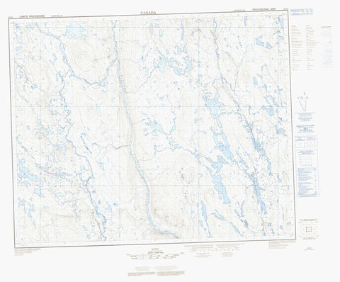 023B02  Canadian topographic map, 1:50,000 scale