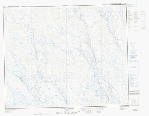 023B03 Lac Aux Cedres Canadian topographic map, 1:50,000 scale