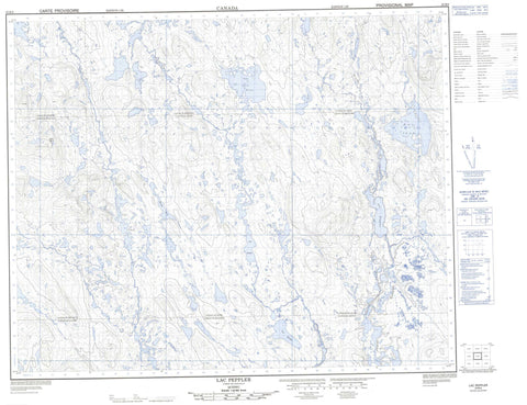 023B05 Lac Peppler Canadian topographic map, 1:50,000 scale