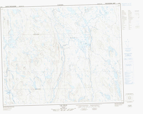 023B07 Lac Felix Canadian topographic map, 1:50,000 scale