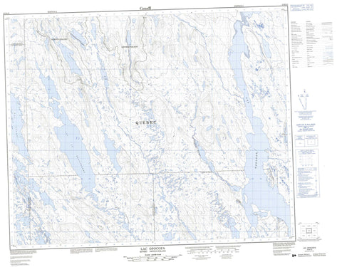 023B10 Lac Opocopa Canadian topographic map, 1:50,000 scale