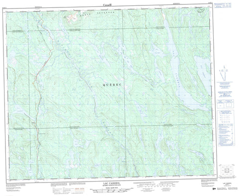 023B11 Lac Carheil Canadian topographic map, 1:50,000 scale