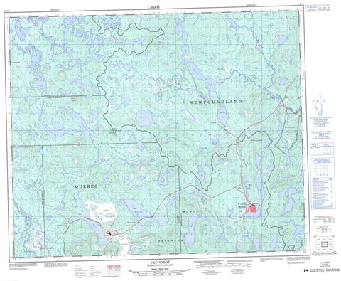 023B14 Lac Virot Canadian topographic map, 1:50,000 scale