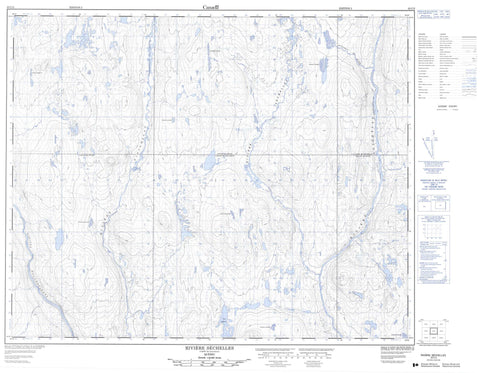 023C03 Riviere Sechelles Canadian topographic map, 1:50,000 scale