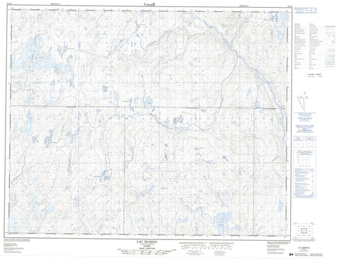023C04 Lac Marsac Canadian topographic map, 1:50,000 scale