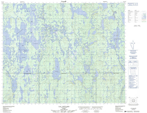 023C10 Lac Soulard Canadian topographic map, 1:50,000 scale