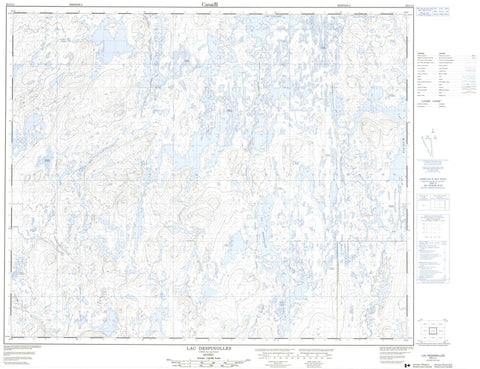 023C11 Lac Despinolles Canadian topographic map, 1:50,000 scale