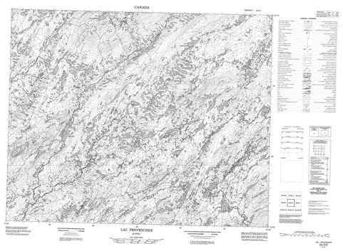 023D02 Lac Provencher Canadian topographic map, 1:50,000 scale