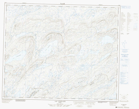 023D07 Lac Conflans Canadian topographic map, 1:50,000 scale