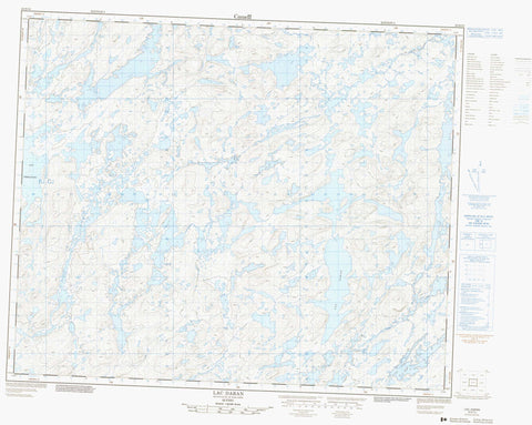 023D13 Lac Daran Canadian topographic map, 1:50,000 scale