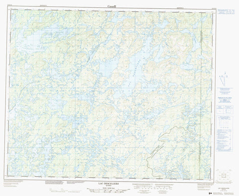 023D16 Lac Desceliers Canadian topographic map, 1:50,000 scale