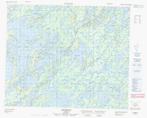 023E02 Nitchequon Canadian topographic map, 1:50,000 scale