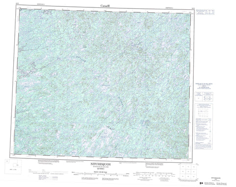 023E Nitchequon Canadian topographic map, 1:250,000 scale