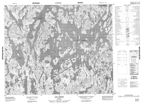 023F01 Lac Jaquis Canadian topographic map, 1:50,000 scale