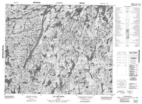 023F04 Lac Bruyeres Canadian topographic map, 1:50,000 scale