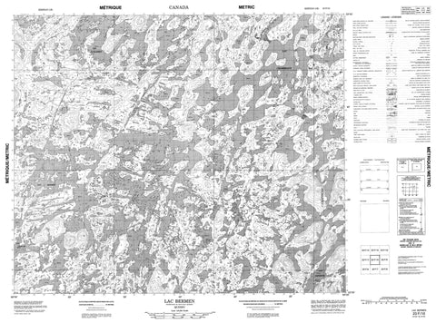 023F10 Lac Bermen Canadian topographic map, 1:50,000 scale