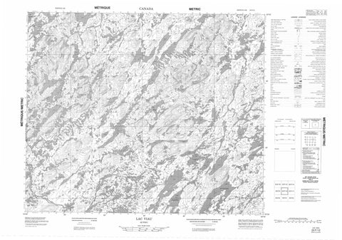 023F12 Lac Viau Canadian topographic map, 1:50,000 scale