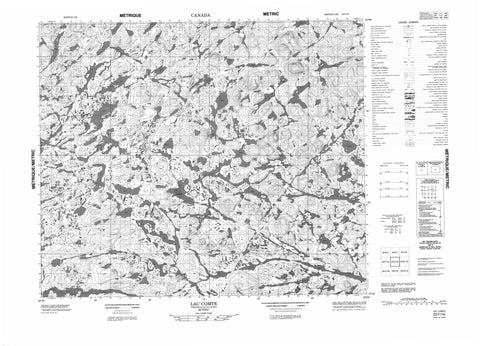 023F16 Lac Comte Canadian topographic map, 1:50,000 scale