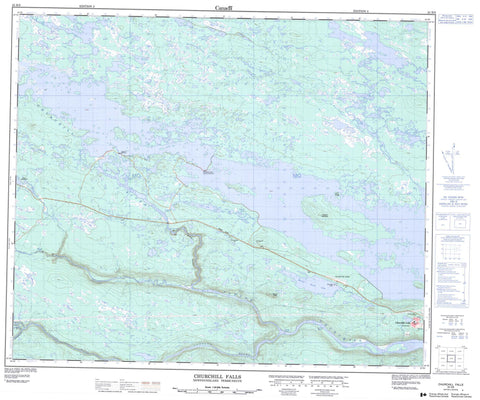 023H09 Churchill Falls Canadian topographic map, 1:50,000 scale
