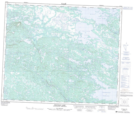 023H12 Colville Lake Canadian topographic map, 1:50,000 scale