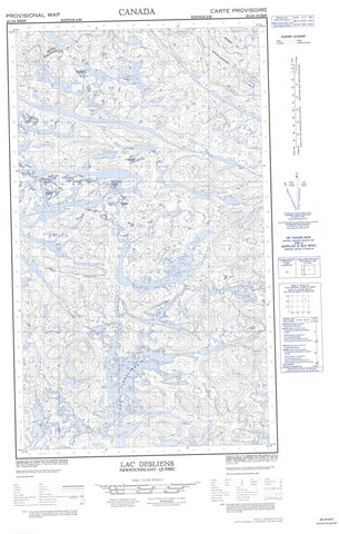 023J06W Lac Desliens Canadian topographic map, 1:50,000 scale
