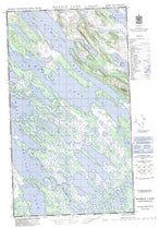 023J08W Marble Lake Canadian topographic map, 1:50,000 scale from Newfoundland Map Store