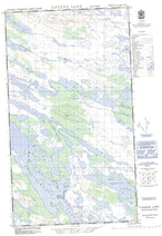023J09E Cavers Lake Canadian topographic map, 1:50,000 scale from Newfoundland Map Store