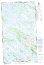 023J09W Cavers Lake Canadian topographic map, 1:50,000 scale from Newfoundland Map Store