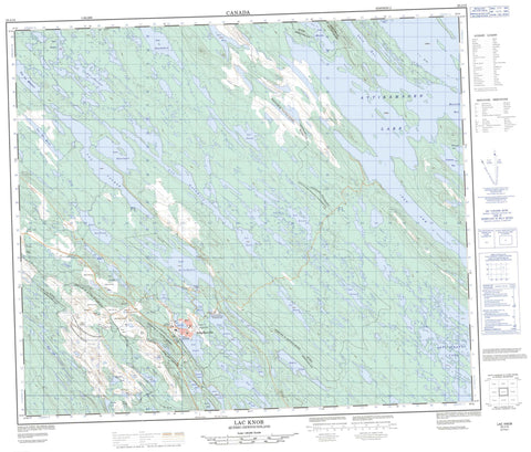023J15 Lac Knob Canadian topographic map, 1:50,000 scale