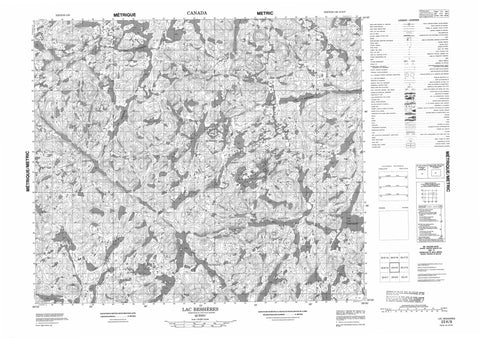 023K09 Lac Bessieres Canadian topographic map, 1:50,000 scale