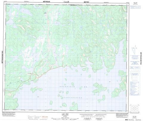 023K13 Lac Pau Canadian topographic map, 1:50,000 scale
