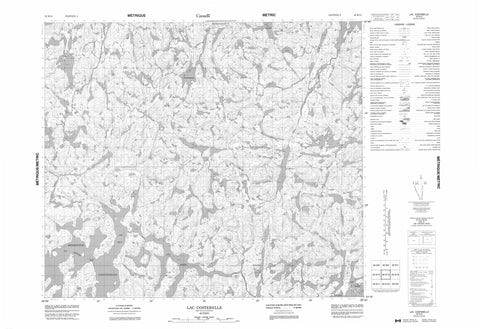 023K15 Lac Costebelle Canadian topographic map, 1:50,000 scale