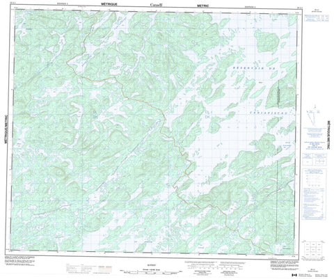 023L01  Canadian topographic map, 1:50,000 scale