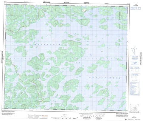 023L08  Canadian topographic map, 1:50,000 scale