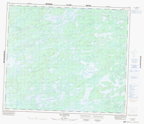 023L12 Lac Robutel Canadian topographic map, 1:50,000 scale