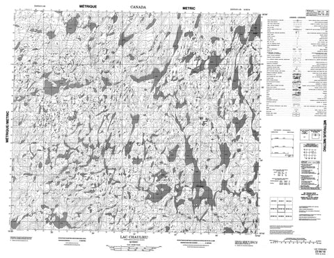 023M16 Lac Chaulieu Canadian topographic map, 1:50,000 scale