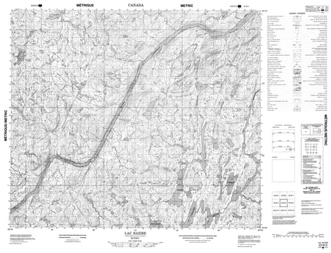 023N03 Lac Bazire Canadian topographic map, 1:50,000 scale