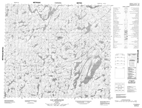 023N12 Lac Lefrancois Canadian topographic map, 1:50,000 scale