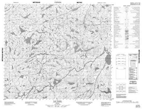 023N14 Lac Baril Canadian topographic map, 1:50,000 scale