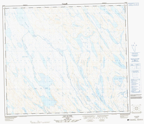 023O06 Lac Le Fer Canadian topographic map, 1:50,000 scale