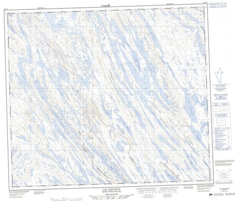 023O07 Lac Bacchus Canadian topographic map, 1:50,000 scale