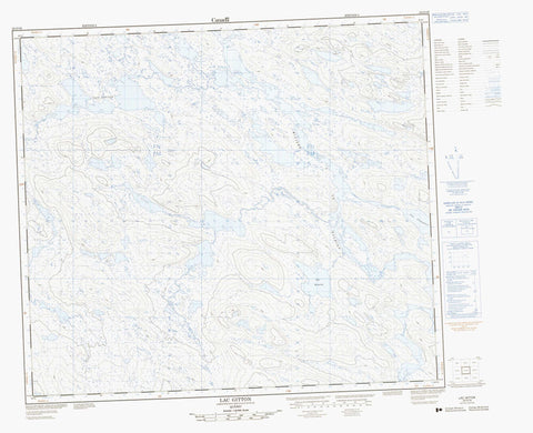 023O16 Lac Gitton Canadian topographic map, 1:50,000 scale