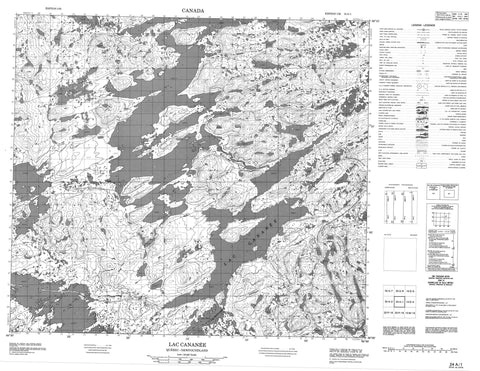 024A01 Lac Cananee Canadian topographic map, 1:50,000 scale